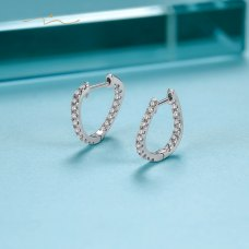 Pionsei Diamond Earring 18K White Gold