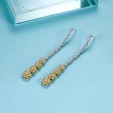 Blissen Diamond Earring 18K White & Yellow Gold