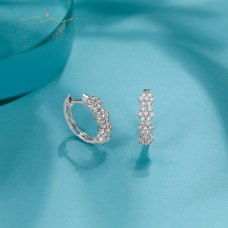 KeiWoo Diamond Earring 18K White Gold