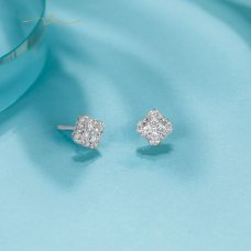 Filaine Diamond Earring 18K White Gold