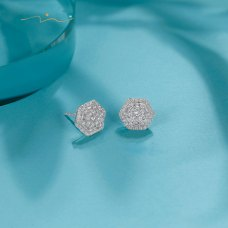 Meony Diamond Earring 18K White Gold