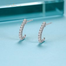 Bliu'eu Diamond Earring 18K White Gold