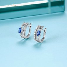Werling Kyanite Diamond Earring 18K White Gold