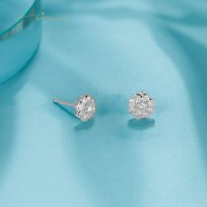 D'ren Diamond Earring 18K White Gold