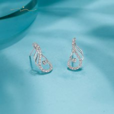 Staline Diamond Earring 18K White Gold