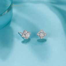 Darine Diamond Earring 18K White Gold