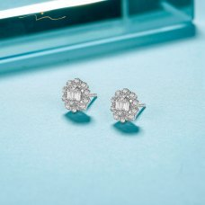 Ski Diamond Earring 18K White Gold