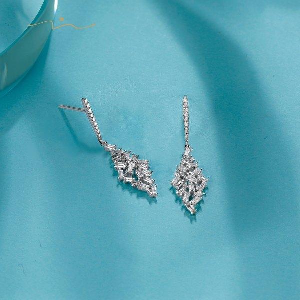 Primey Diamond Earring 18K White Gold
