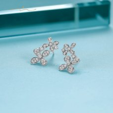 Blooms Diamond Earring 18K White Gold