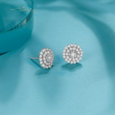Prings Diamond Earring 18K White Gold
