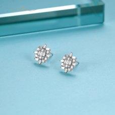 Clarines Diamond Earring 18K White Gold
