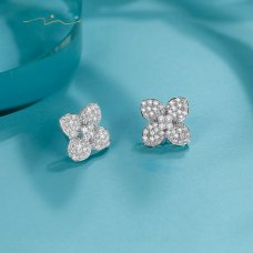 Flower Bay Diamond Earring 18K White Gold