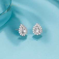 Capness Diamond Earring 18K White Gold