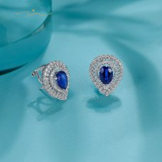 Cirien Kyanite Diamond Earring 18K White Gold