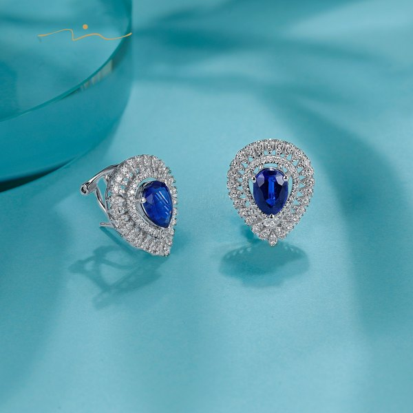 Cirien Kyanite Diamond Earring 18K White Gold