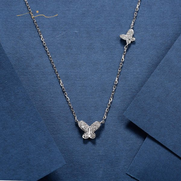 Terish Diamond Necklace 18K White Gold