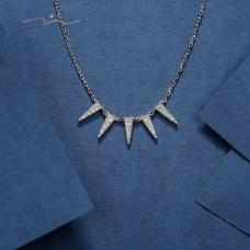 Blane Diamond Necklace 18K White Gold