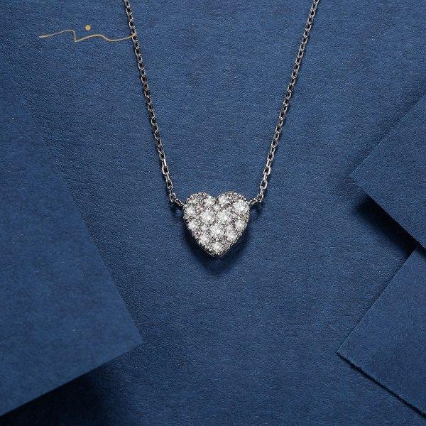 Kipsion Diamond Necklace 18K White Gold