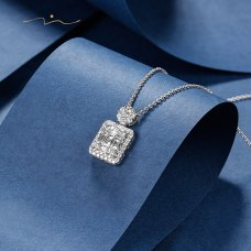 Terliss Diamond Necklace 18K White Gold