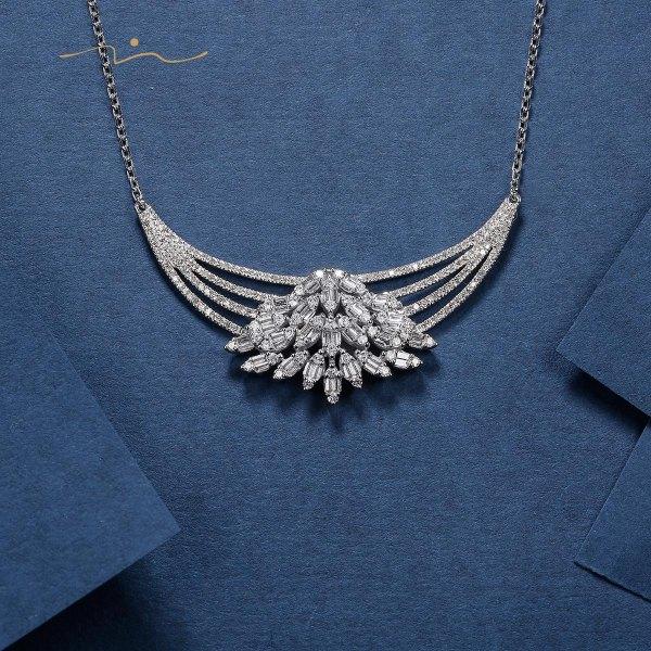 Mayrine Diamond Necklace 18K White Gold