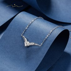 Lonbong Diamond Necklace 18K White Gold