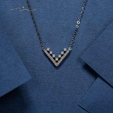 Graceful Diamond Necklace 18K White Gold