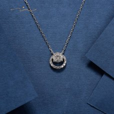 Pomviel Diamond Necklace 18K White Gold