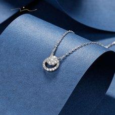 Pomviel Diamond Necklace 18K White Gold