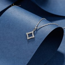 Sun Woo Diamond Necklace 18K White Gold