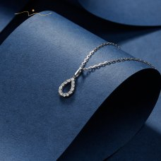 Ji Soo Diamond Necklace 18K White Gold
