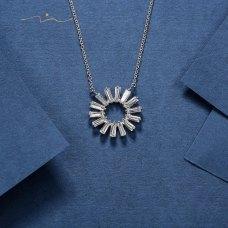 Isia Diamond Necklace 18K White Gold
