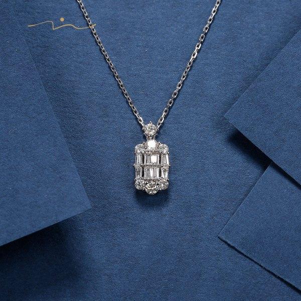 Reibou Diamond Necklace 18K White Gold