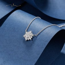Boxie Diamond Necklace 18K White Gold