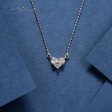 Love Me Tender Diamond Necklace 18K White Gold