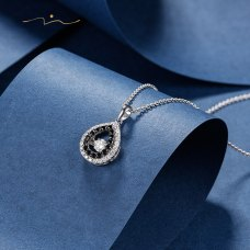 Twinky Diamond Necklace 18K White & Black Gold