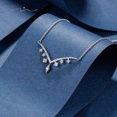 Pryvien Diamond Necklace 18K White Gold