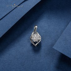 Wilber Diamond Pendant 18K White Gold
