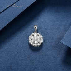 Qinnys Diamond Pendant 18K White Gold