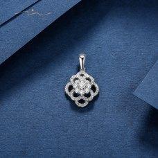 Twel Diamond Pendant 18K White Gold