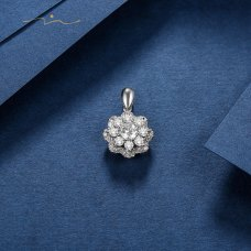 Gloria Diamond Pendant 18K White Gold