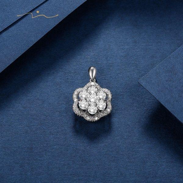 R'ien Diamond Pendant 18K White Gold