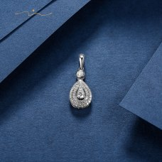 Prings Diamond Pendant 18K White Gold