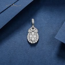 Intrine Diamond Pendant 18K White Gold