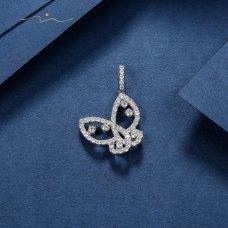 A'lon Diamond Pendant 18K White Gold