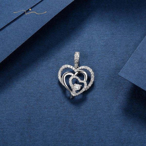 Kyun-ie Diamond Pendant 18K White Gold