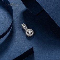 Oreny Diamond Pendent 18K White Gold