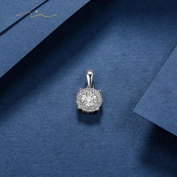 Beling Diamond Pendant 18K White Gold
