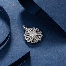 Sherin Diamond Pendant 18K White Gold