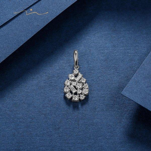 Bierm Diamond Pendant 18K White Gold