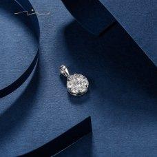 Lou'en Diamond Pendant 18K White Gold